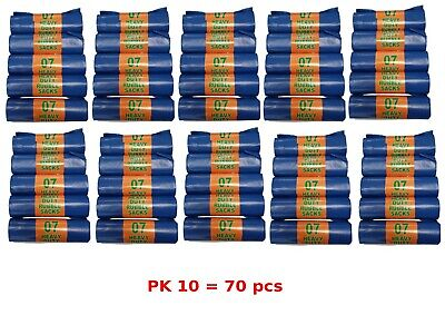 Blue Heavy Duty Rubble Sacks Bags Garden Refuse 10 Roll Of 70