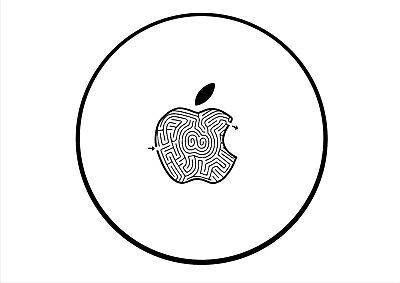 APPLE MAZE printed ROUND MOUSEMAT ideal for Mac iMac MacBook mouse mat pad gift