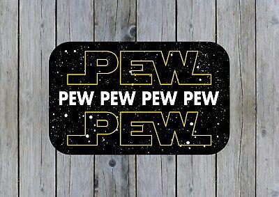 Pew Pew Pew Inspired Print Star Wars Funny Laptop Wall Art Decor Vinyl Sticker