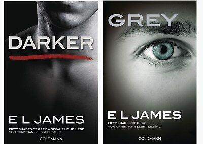 E L James Fifty Shades Of Grey 4 und 5 von Christian selbst erzählt Darker Grey