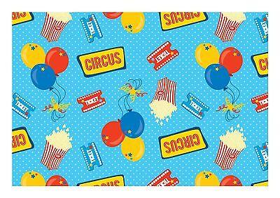 ND1 Circus theme wallpaper Print  Cake Topper Icing A4 Edible](Circus Theme Cake)