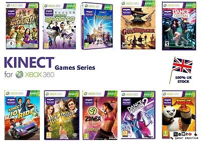 XBox 360 Kinect Games - Multi listings - Adventures Dance Central Sports etc