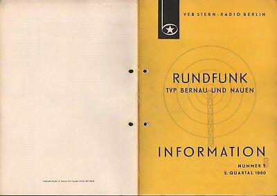 BERLIN, Prospekt 1960, VEB Stern-Radio Berlin Typ Bernau und Nauen
