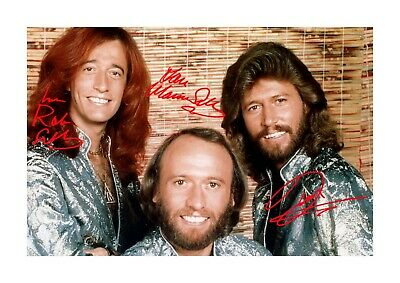 Bee Gees 3 A4 reproduction autograph photograph poster. Choice of frame.