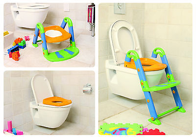 toilet trainer chair seat kidskit toddler potty child step up ladder fold baby