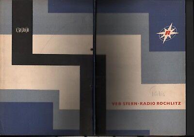 ROCHLITZ, Prospekt 1962, VEB Stern-Radio Rochlitz Hör-Rundfunkempfänger Türkis