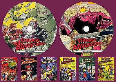 Strange Adventure Comics 1-244 On Two DVD Rom's