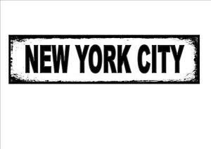 New York City USA Street Metal Sign