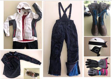 Ladies Ski Gear size M, inc boots, gloves, helmet, goggles
