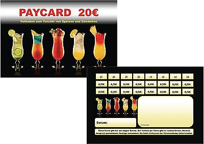 Paycard Guthabenkarten Bezahlkarten Prepaid-Karten Verzehrkarten Disco Bar
