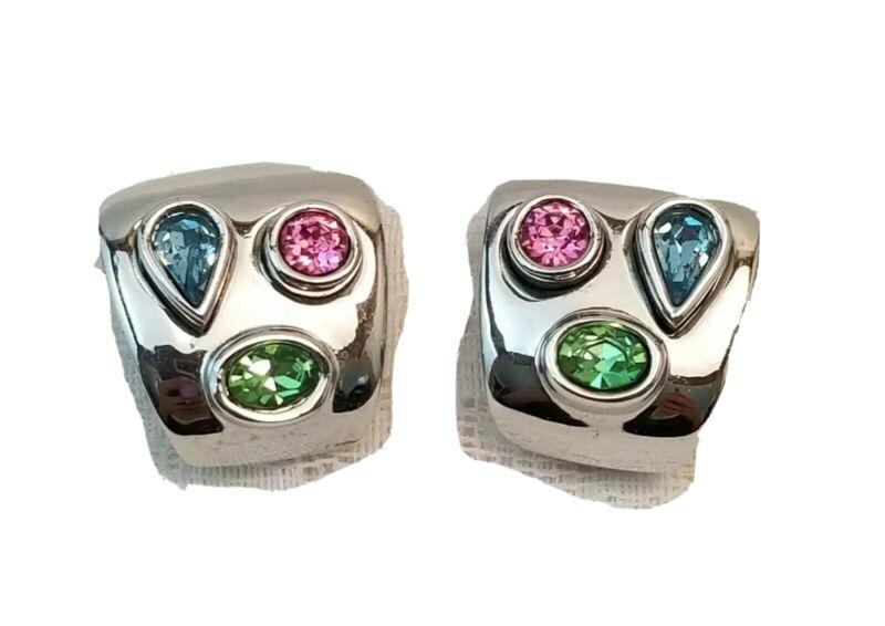 Gorgeous Earrings Jeweled Rhinestones Clip-on Estate Jewelry LADY REMINGTON