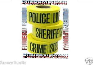 U-PICK-POLICE-SHERIFF-LINE-CRIME-SCENE-DO-NOT-CROSS-50FT-TAPE-HALLOWEEN-GAG-PROP