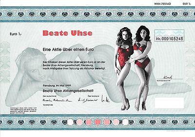 Beate Uhse AG Flensburg Aktie 1999 Schleswig-Holstein Erotik Sex Film Hamburg y