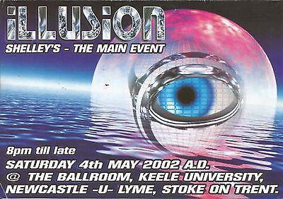 (RAVE FLYER 2002) ILLUSION / SHELLEYS @ STOKE ON TRENT. SHADES OF (Alternator Sunglasses)