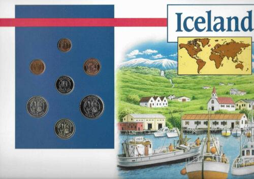 Coins of the World Iceland 1981-1992 BU 1,5,50 Kronur 1992 10 Kronur 1987