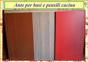 Ante per pensili e basi cucina componibile in nobilitato tanti colori ascelta - Dipingere ante cucina ...