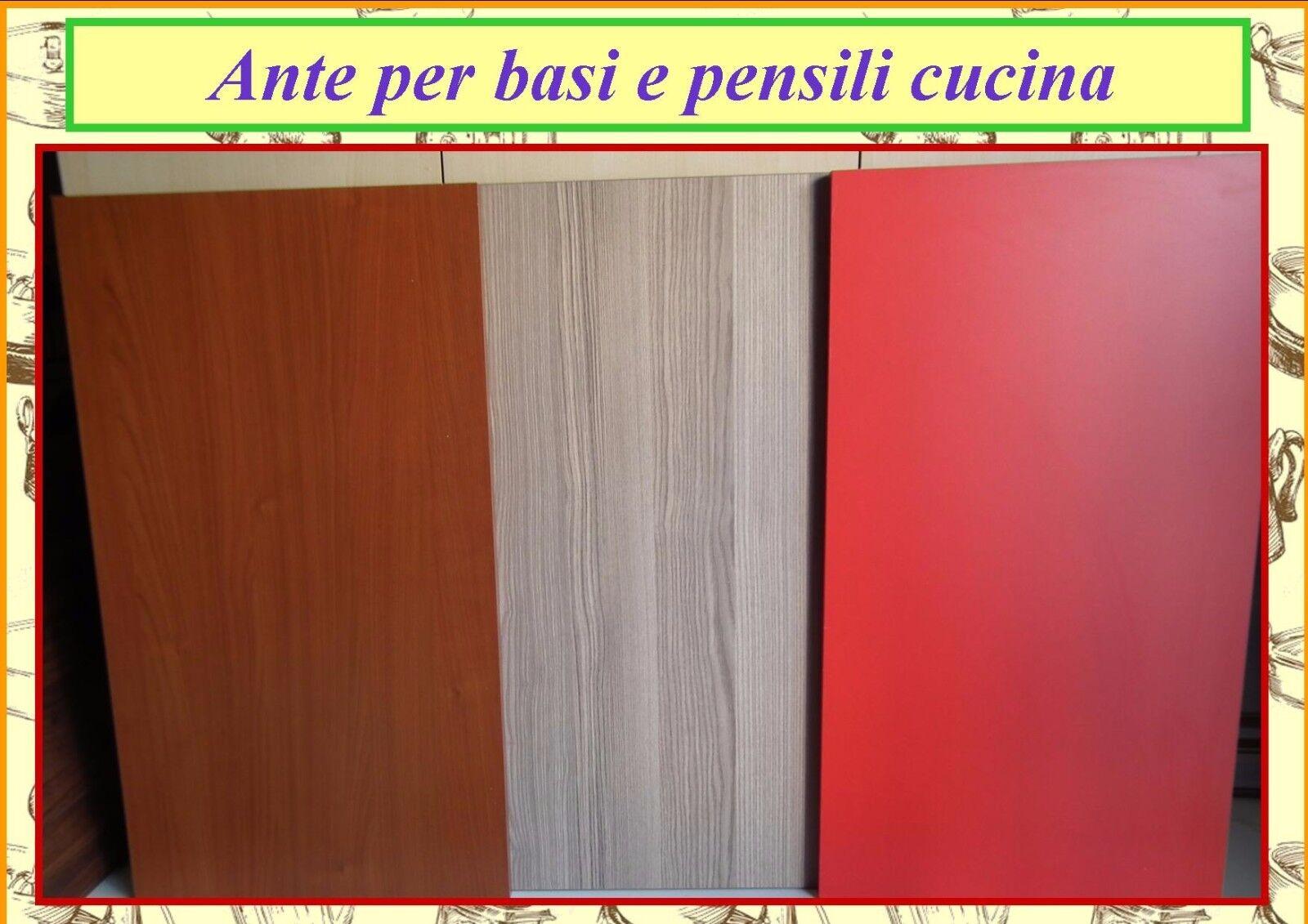ANTE PER PENSILI E BASI CUCINA COMPONIBILE IN NOBILITATO ...