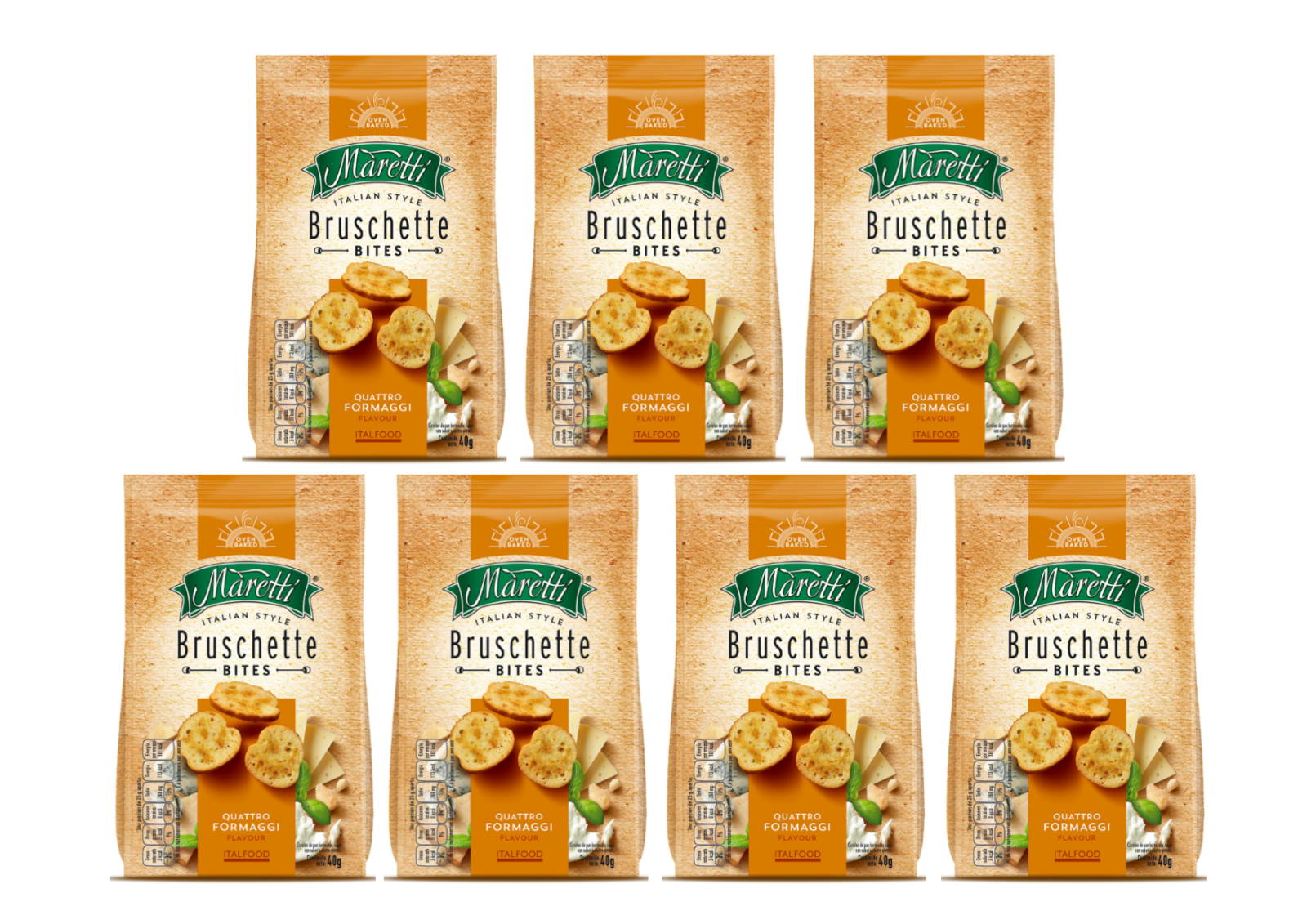 Maretti Bruschette Mix Cheese  flavour 70g pack of 7