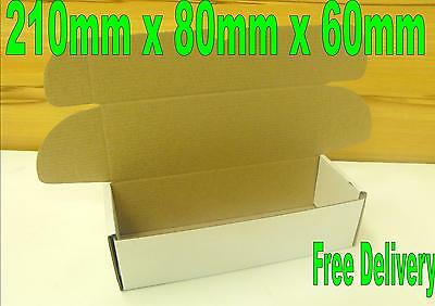 1000 Small mailing cardboard boxes 210 x 80 x 60mm Postal Packing Cartons
