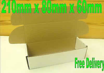 500 Small mailing cardboard boxes 210 x 80 x 60mm Postal Packing Cartons