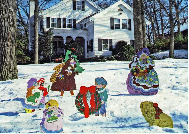Christmas Wood Craft Pattern - Dickenson Family - Victorian Theme - 6 patterns