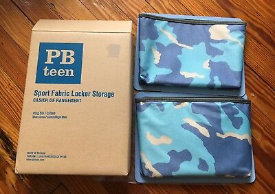 Locker Storage Bins (NIB Pottery Barn Teen 2 Sport Fabric Locker Storage Magnetic)