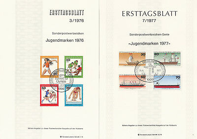 2 Ersttagsblätter BERLIN, 3/1976 und 7/1977
