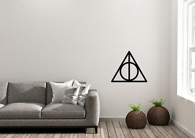 Deathly Hallows Symbol Harry Potter Inspired Design Wall Art Decal Vinyl Sticker