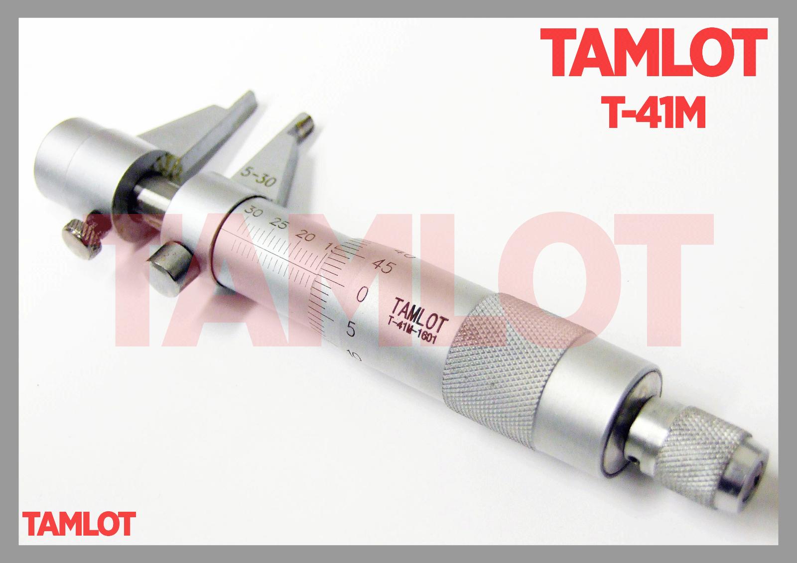 Innen- Messschraube Mikrometer TAMLOT T-41M gewölbte Messflächen 5-30 mm NEU OVP