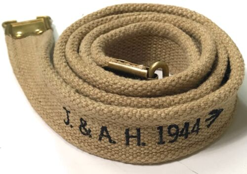 WWII BRITISH ENFIELD RIFLE CANVAS CARRY SLING