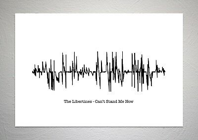 The Libertines - Can't Stand Me Now - Sound Wave Print Poster Art