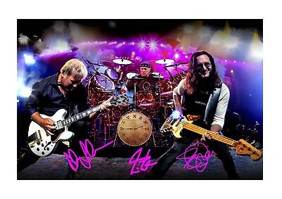 Rush A4 reproduction autograph photograph poster. Choice of frame.