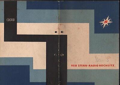 ROCHLITZ, Prospekt 1962, VEB Stern-Radio Rochlitz UKW Koffersuper Stern 3