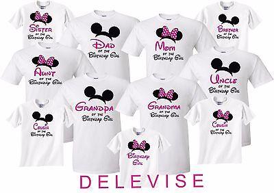 Birthday Girl Family Birthday Funny Cute matching T-Shirts