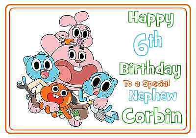 The amazing world of gumball personalised A5 birthday card son sister name age](Gumballs Sister)