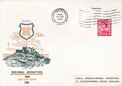 Jersey 1969 Regional Definitives FDC VGC