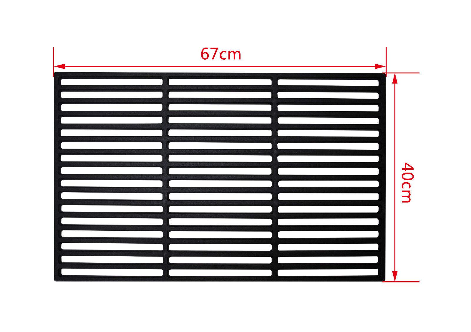 Grillrost aus Gusseisen Größe 67x40 cm (emaliert), massive Profi Ausführung