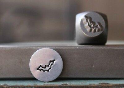 SUPPLY GUY 7mm Halloween Bat Metal Punch Design Stamp SGCH-246](Halloween Bat Punch)