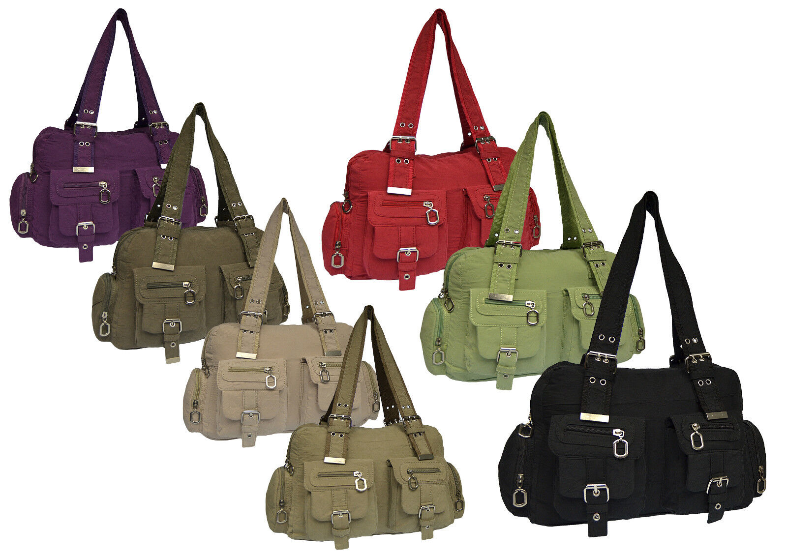 Sportliche Damentasche Shopper Henkeltasche Trage-Tasche Handtasche Stofftasche