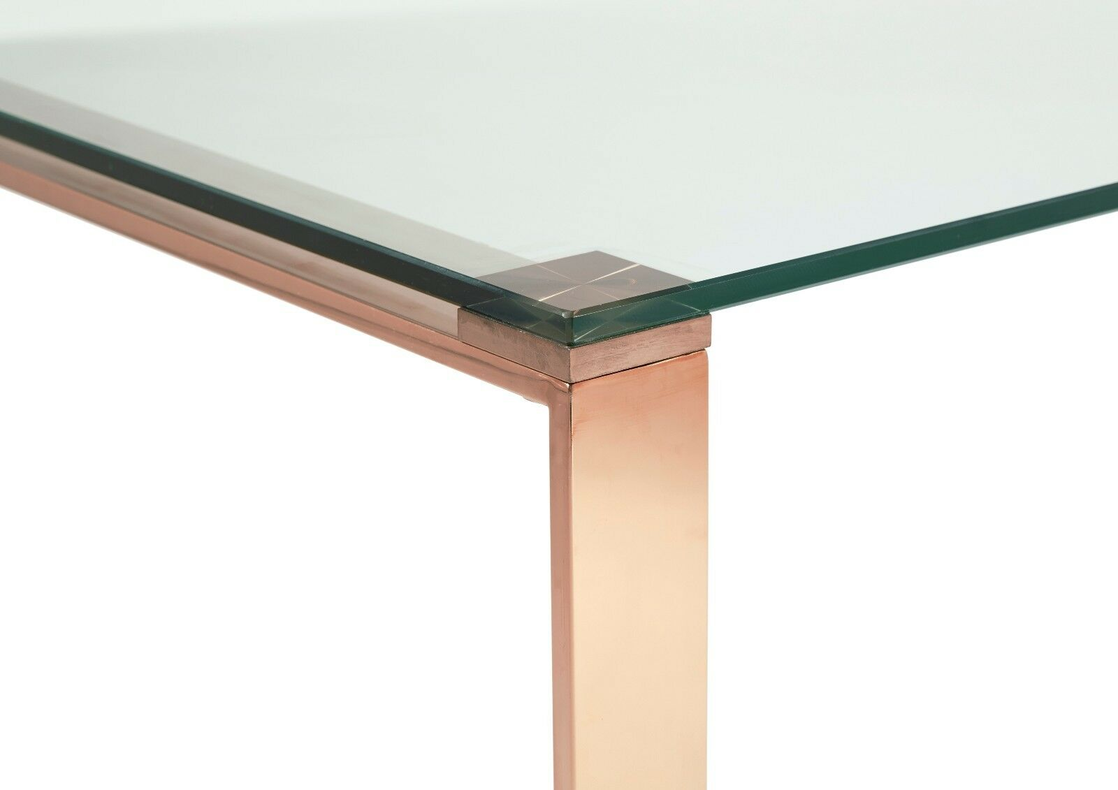 Asger glass top coffee table in steel gold or rose gold metal frame ebay Metal glass top coffee table