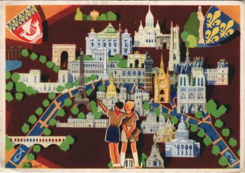 PC SCOUTING, P. JOUBERT, FRENCH SCOUTS, Vintage Postcard (b28303)