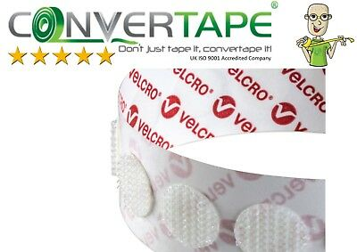 - VELCRO® Brand PS14 Self Adhesive Hook & Loop Dots Coins Circles 22mm|2.2cm WHITE