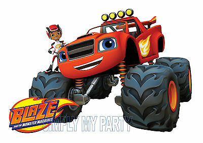 IRON ON TRANSFER or STICKER - BLAZE AND THE MONSTER MACHINES - PAW PATROL