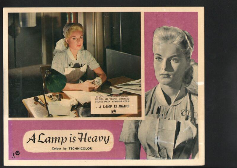 Lamp is Heavy Lobby Card-Belinda Lee as a nurse.