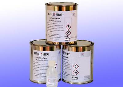 3 kg Laminierharz Ortho Top-Konstruktionsharz Polyesterharz inkl.Härter GFK