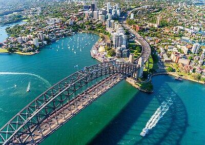 A3| Sydney Harbour Bridge Poster Size A3 Landscape Travel Poster Gift #16291 (Sydney Harbour Bridge Poster)
