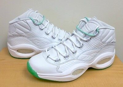MENS REEBOK QUESTION MID White/Mint Glow CM9417 Allen Iverson BASKETBALL