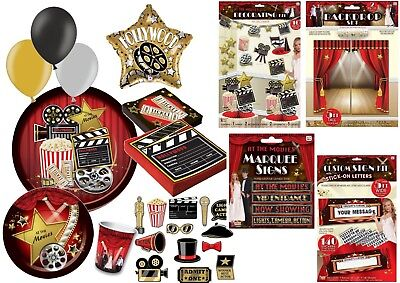 HOLLYWOOD AWARD OSCARS AT THE MOVIES PROM NIGHT THEMED DECORATIONS AND TABLEWARE](Oscar Night Decorations)