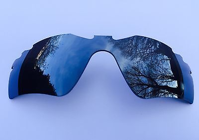 POLARIZED SILVER MIRRORED REPLACEMENT OAKLEY RADAR PATH VENTED LENS & POUCH