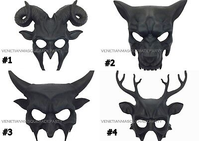 Antler Horns Masquerade Wolf Ram Mask Halloween costume Birthday Party Wall Deco](Halloween Costumes Wolf Mask)